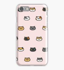 Neko Atsume Kitty Collector Cat Faces iPhone Case/Skin