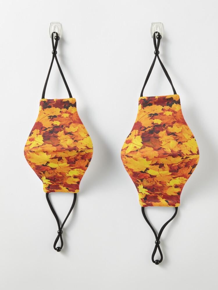 Alternate view of Golden Autumn Maple Leaves Mask