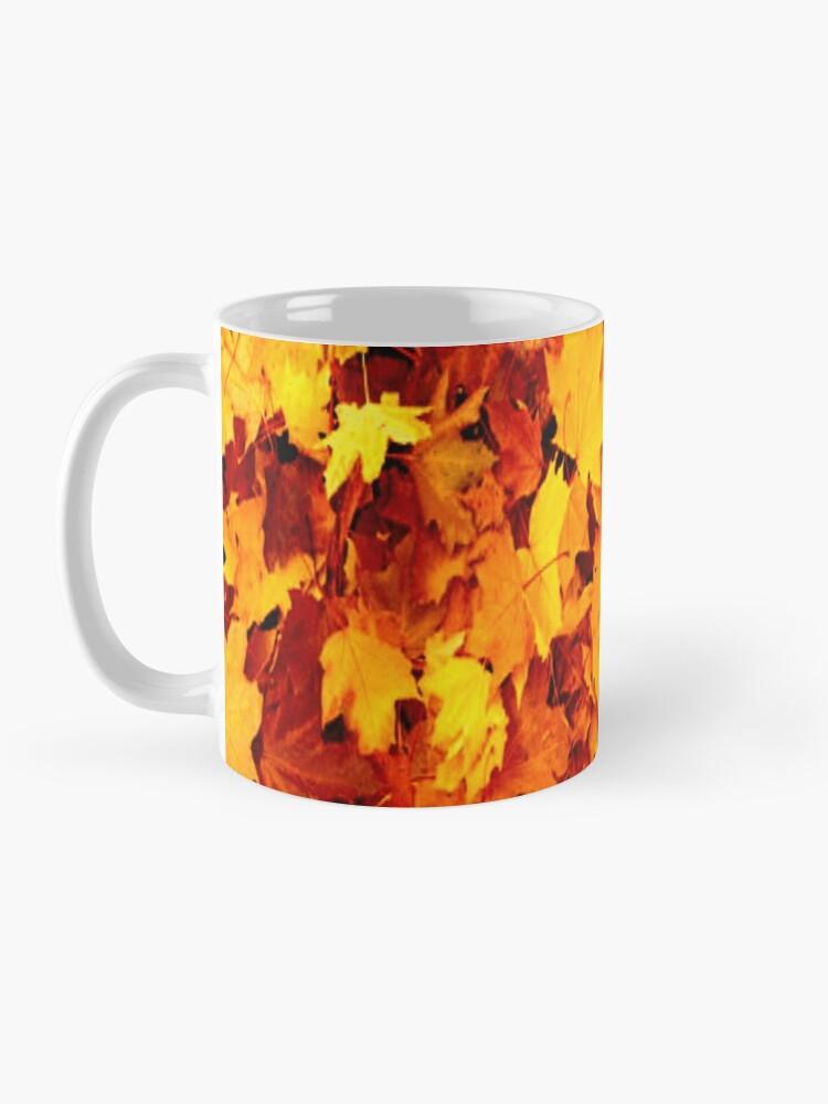 Alternate view of Golden Autumn Maple Leaves Mug