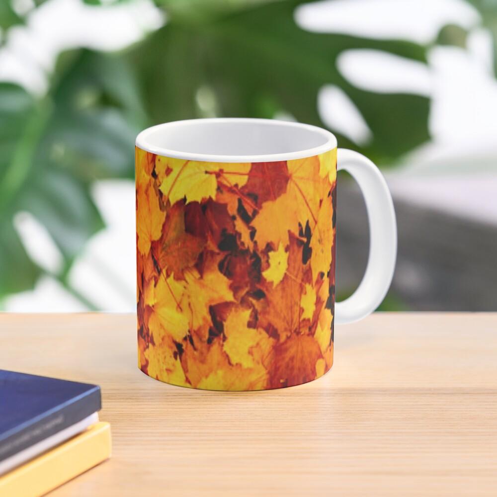 Golden Autumn Maple Leaves Mug