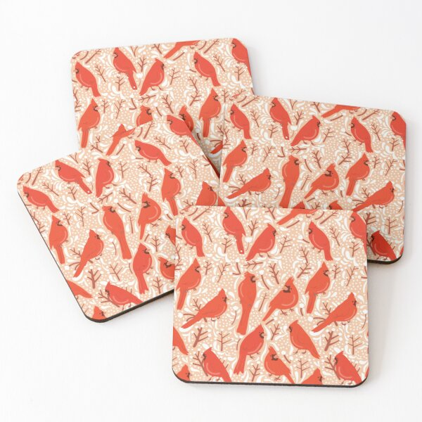 Cardinal winter bliss Coasters (Set of 4)