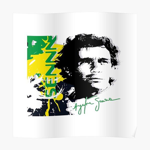 Ayrton Senna - Formule 1 Poster