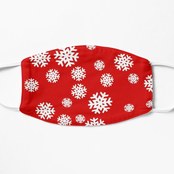 Snowflakes on Red Background! Mask