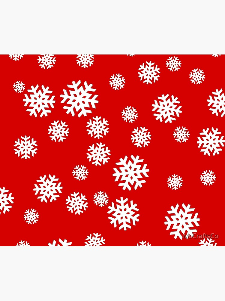 Snowflakes on Red Background! by MoCraftsCo