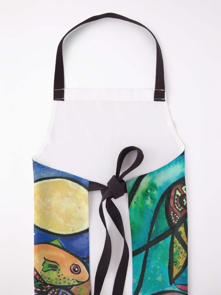 Alternate view of Playing with  the moon Apron