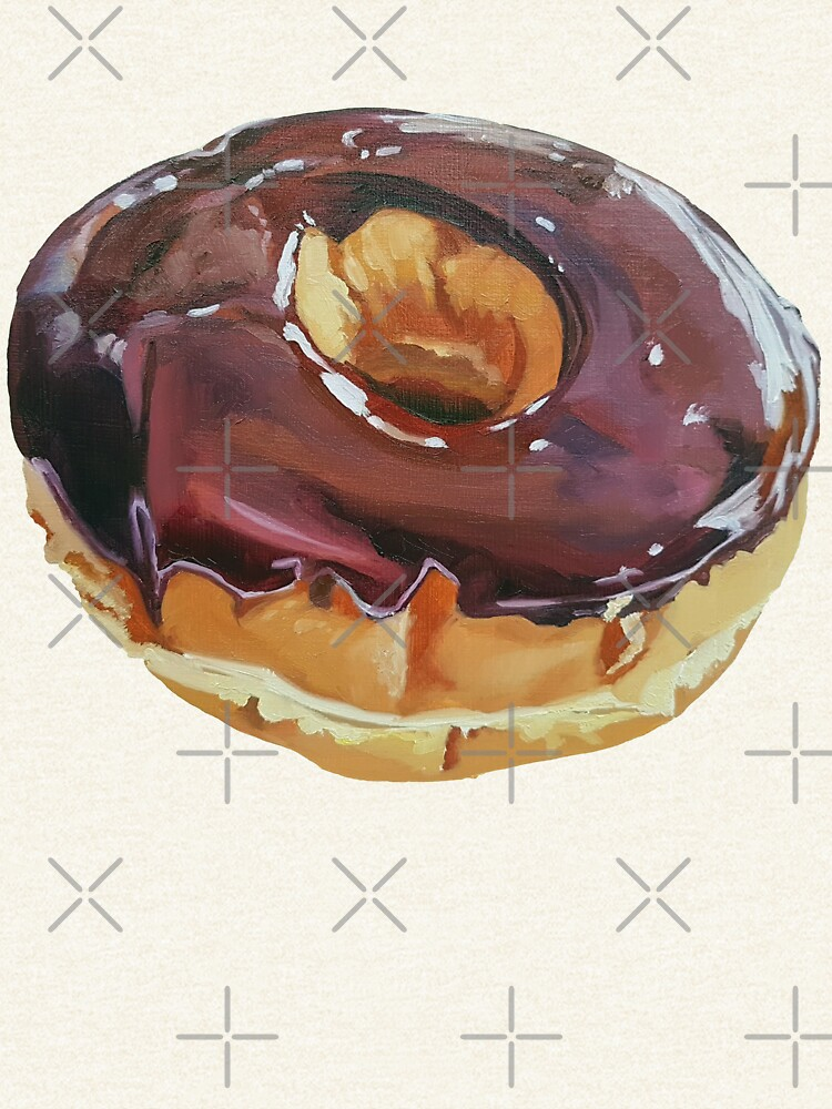 Chocolate Dip Donut painting (no background) by EmilyBickell