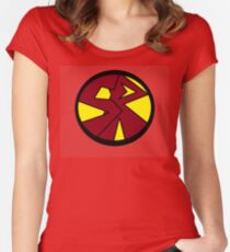 Superhero Movie Reactor Women's Fitted Scoop T-Shirt