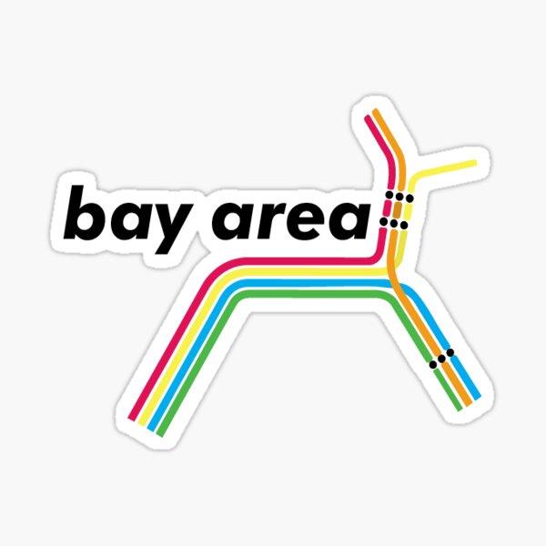 Bay Area Bart Map Sticker