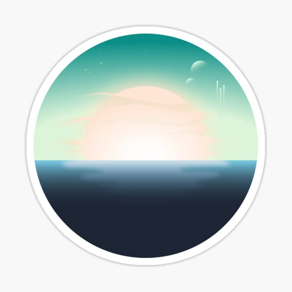 Exoplanet Ocean Sunrise Sticker
