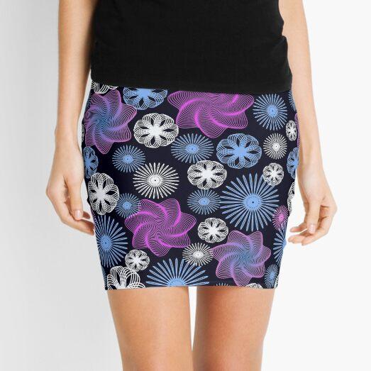Dancing Spirographs Mini Skirt