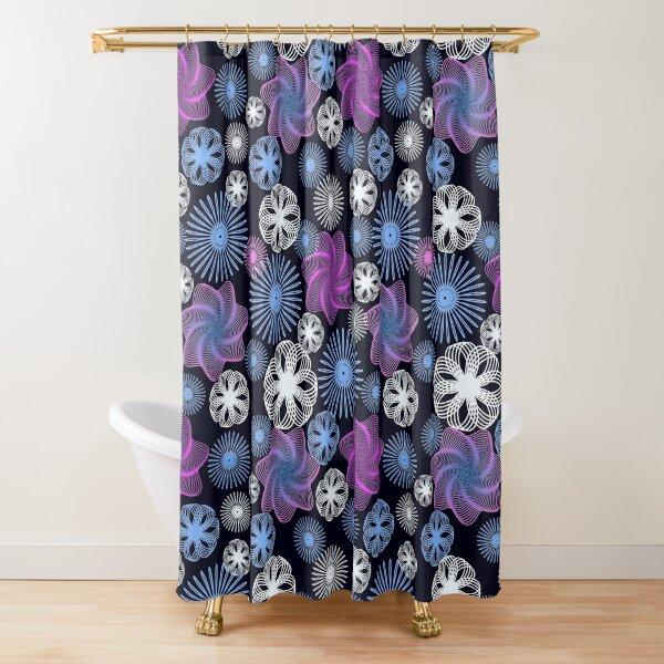 Dancing Spirographs Shower Curtain