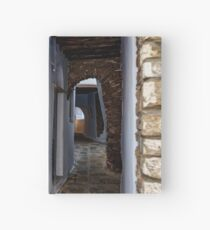 Arched paved side street  Hardcover Journal