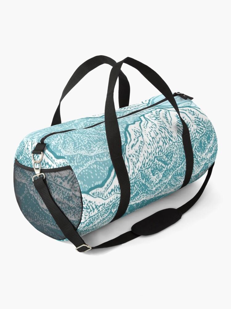 Alternate view of Distant Snow- 遠雪 : linocut Duffle Bag