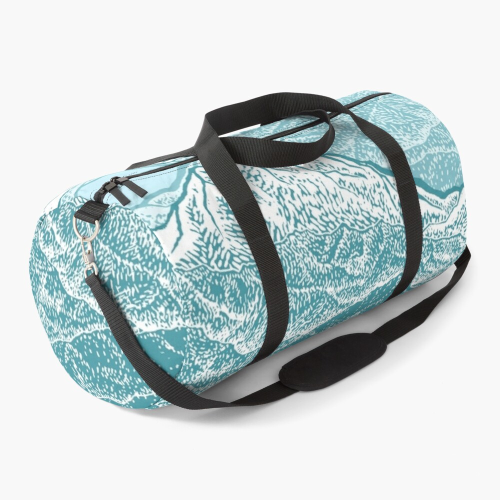 Distant Snow- 遠雪 : linocut Duffle Bag