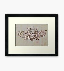 Skulls and guns  Framed Print