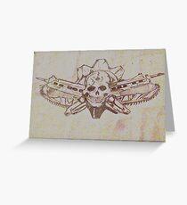 Skulls and guns  Greeting Card