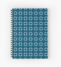 Petrol Crescents Spiral Notebook