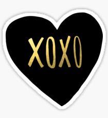XOXO Heart Sticker