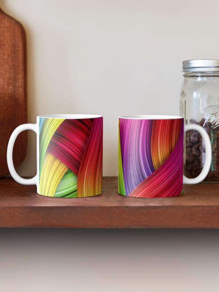 Alternate view of Brush Strokes design  Mug