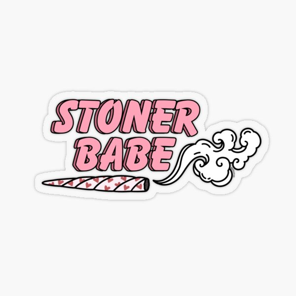 Stoner Babe Heart Joint Weed Decal Sticker Transparent Sticker