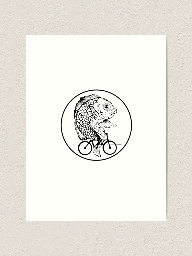 Alternate view of A woman without is man is like a fish without a bicycle Art Print