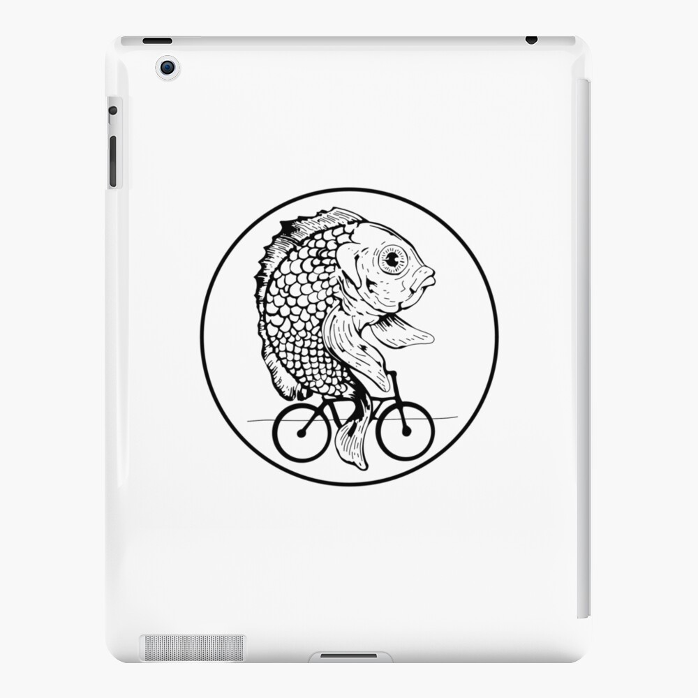 A woman without is man is like a fish without a bicycle iPad Case & Skin