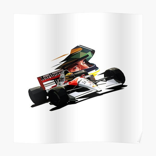 Ayrton Senna Low Poly Poster