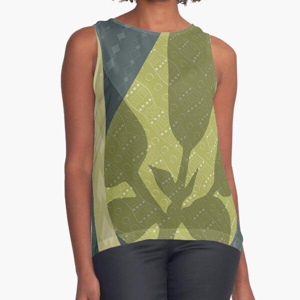 Leaf Shadow Sleeveless Top