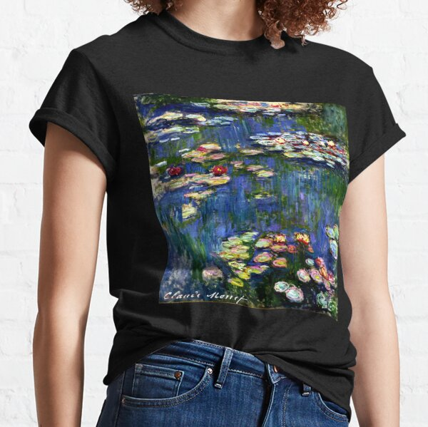 Claude Monet Water Lilies -  Iconic Image of Impressionism Classic T-Shirt