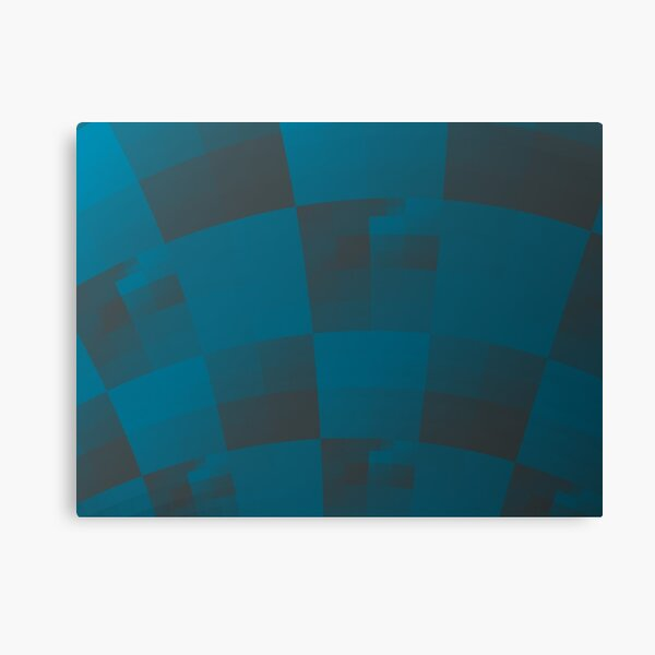 Squares Abstract Pattern Blue Canvas Print