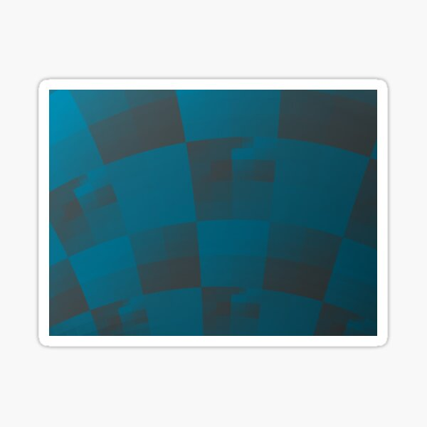 Squares Abstract Pattern Blue Sticker