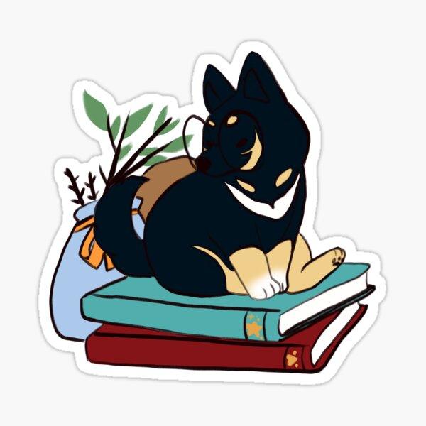 Dog Books Sticker