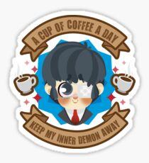 A cup of coffee a day , makes my inner demon away Sticker