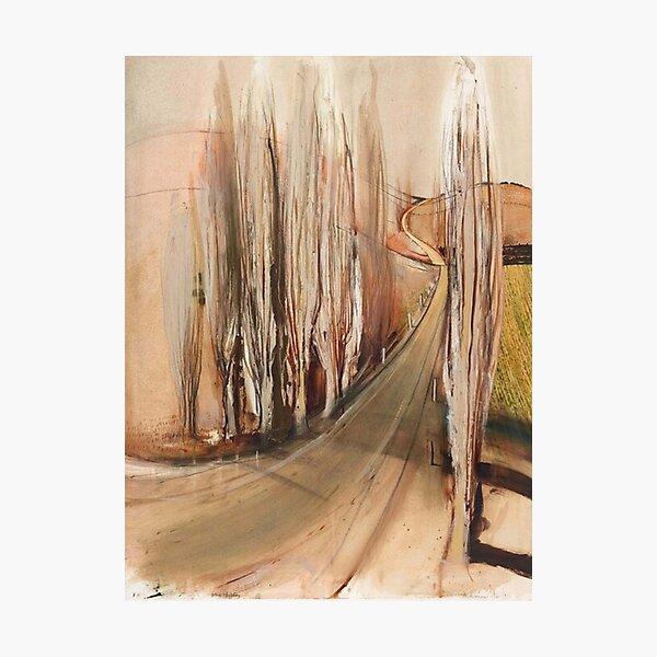 Brett Whiteley- 'Memory from School - Winter Poplars' (1992) Original oil painting by the great Australian artist Photographic Print