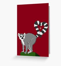 Lemur Love Greeting Card