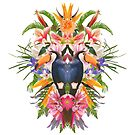 Toucan and flowers by mikath