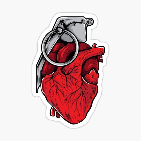 Heart at war. Sticker