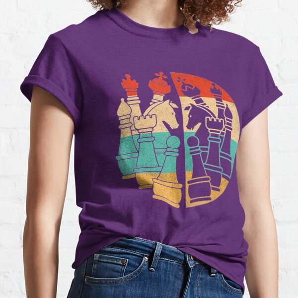 Vintage retro chess pieces stalemate Classic T-Shirt