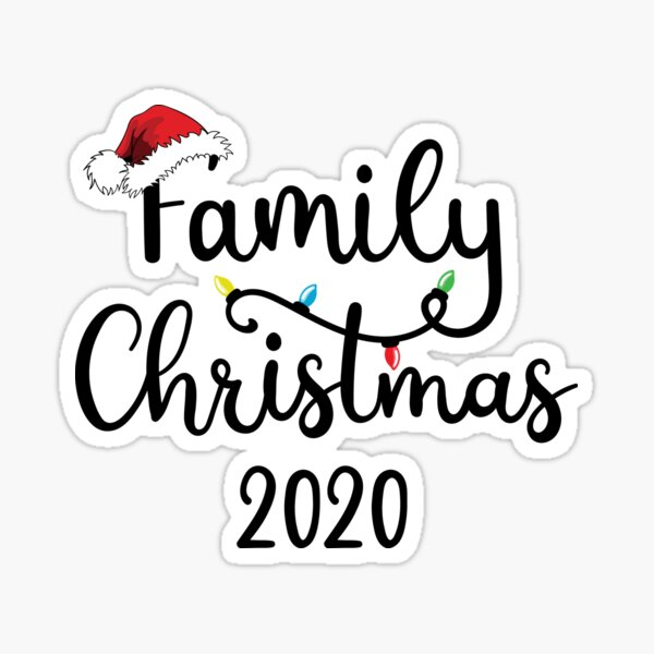 Christmas Family Matching Outfits Family Christmas 2020  Sticker