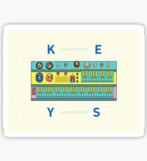 Keyboard Synth Sticker