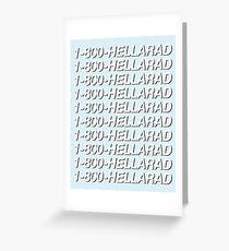 1-800-HELLARAD Greeting Card