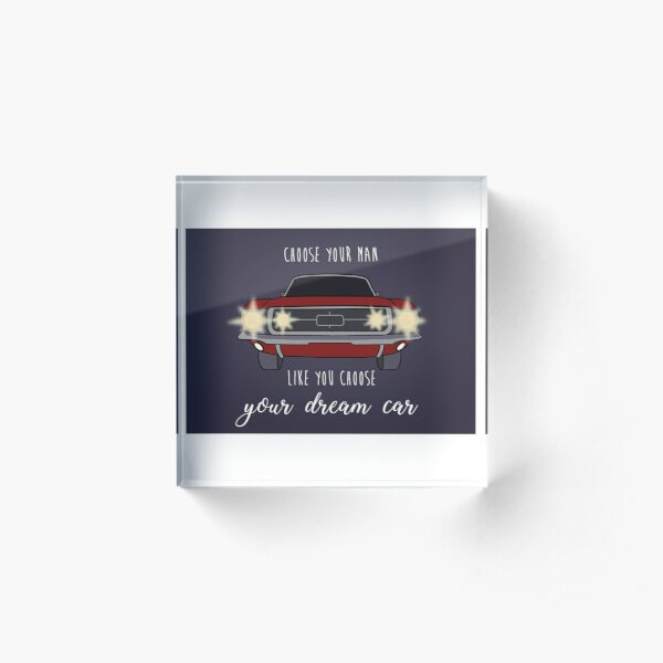 Be carefull  you enjoy the ride with, it might kill you Acrylic Block