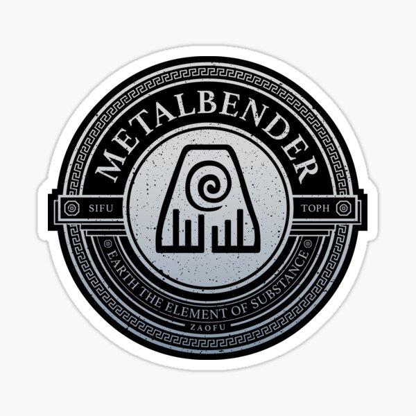 ATLA Metal Symbol: Avatar The Last Airbender-Inspired Design Sticker