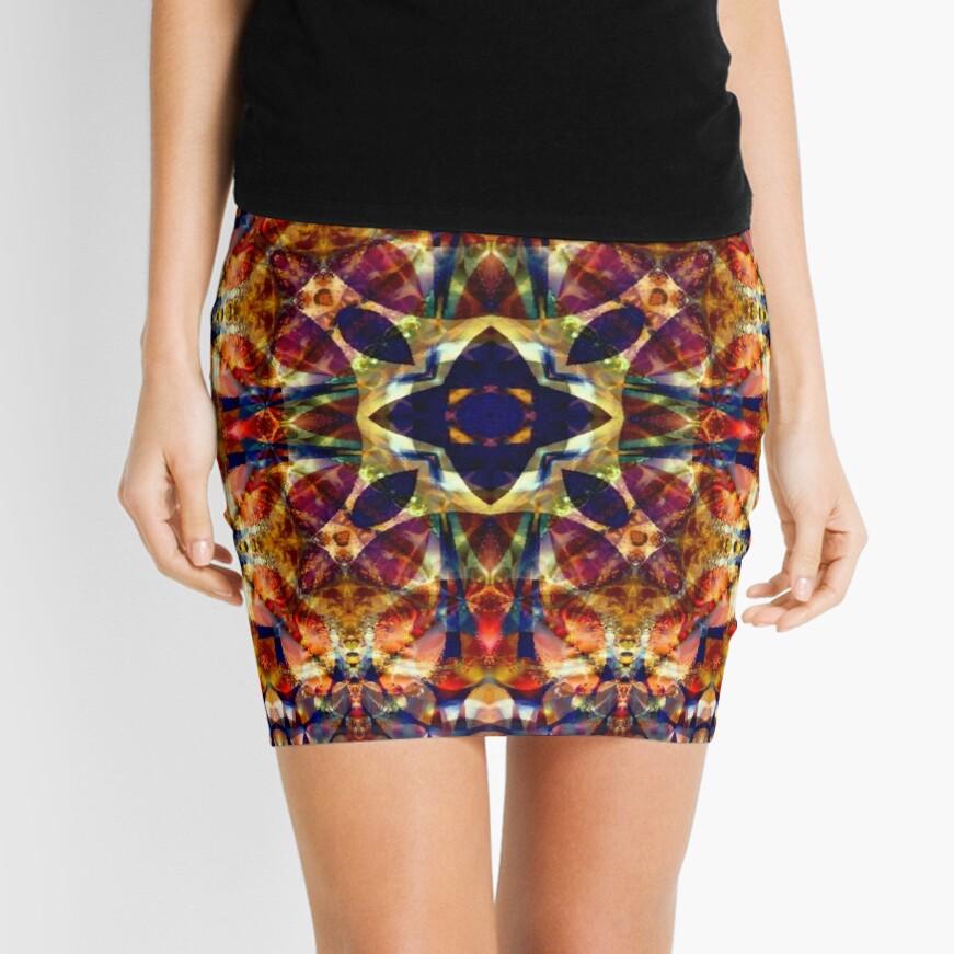 Fractal Fantasia No 1 Mini Skirt