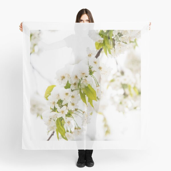 Cherry Blossoms in Spring Covered in Snow Scarf