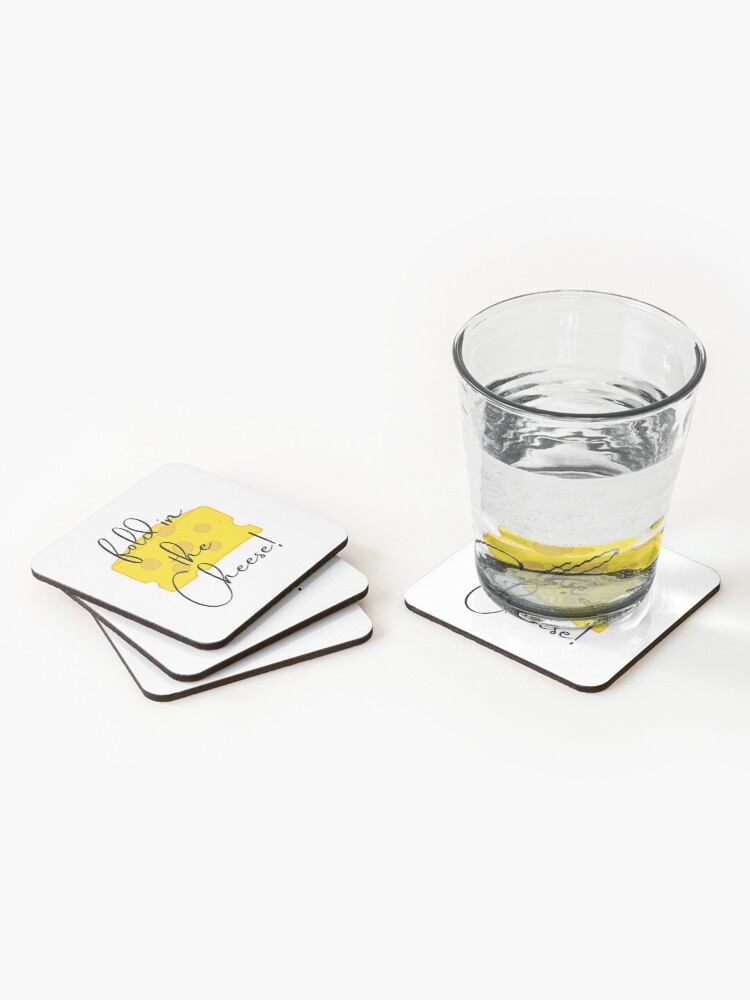 Alternate view of Fold in the Cheese!! Coasters (Set of 4)