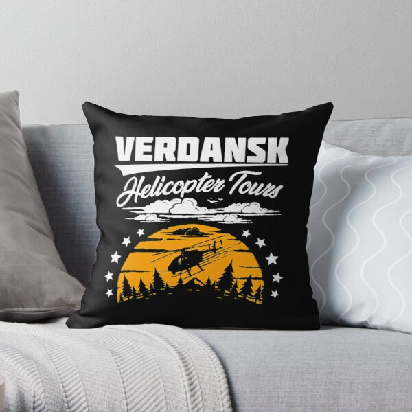 Warzone/Verdansk Helicopter Tours Throw Pillow
