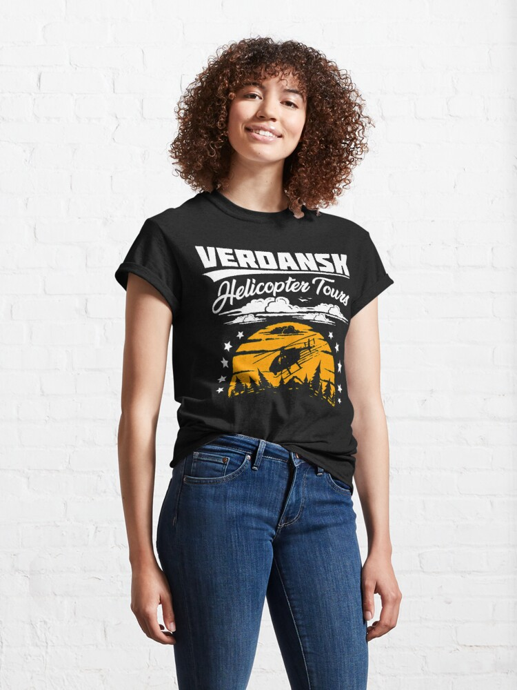 Alternate view of Warzone/Verdansk Helicopter Tours Classic T-Shirt