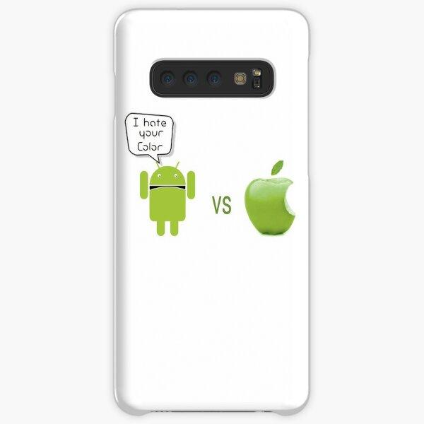 Android vs Apple - Odio tu color - Robot u. manzana Funda rígida para Samsung Galaxy