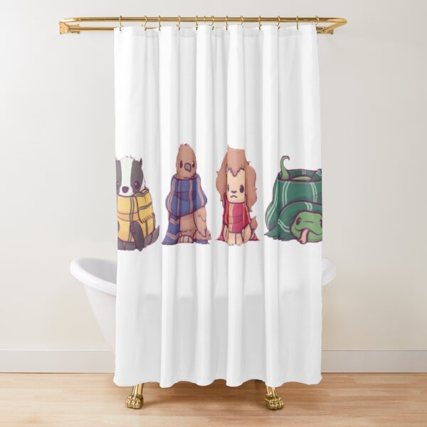 pack of magical animals Shower Curtain
